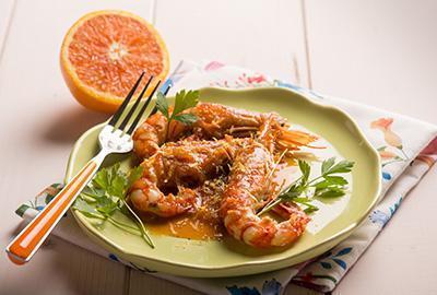 Ganze Riesengarnelen In Orange & Kümmel geröstet Rezept