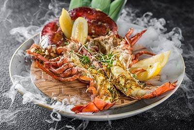 Gegrillter Hummer - asiatisch / Lobster Thai-Style / Gung Mangkorn Pao
