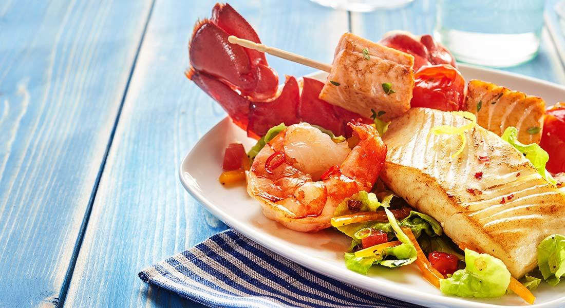 Meeresfrüchte Produkte