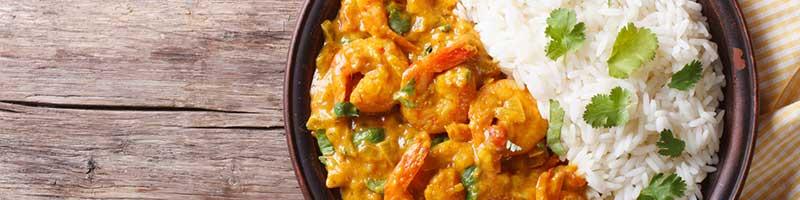 Garnelen Curry mit Reis