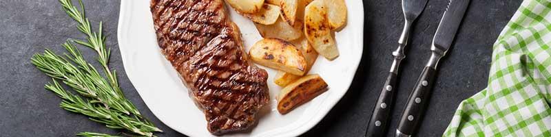 Sirloin Steak mit Bratkartoffeln Rezeptidee